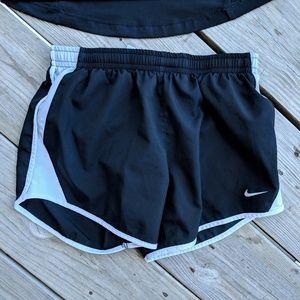Nike M girls Dri-Fit shorts built-in briefs runnin